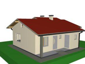 Idejno rješenje tipske kuće 2