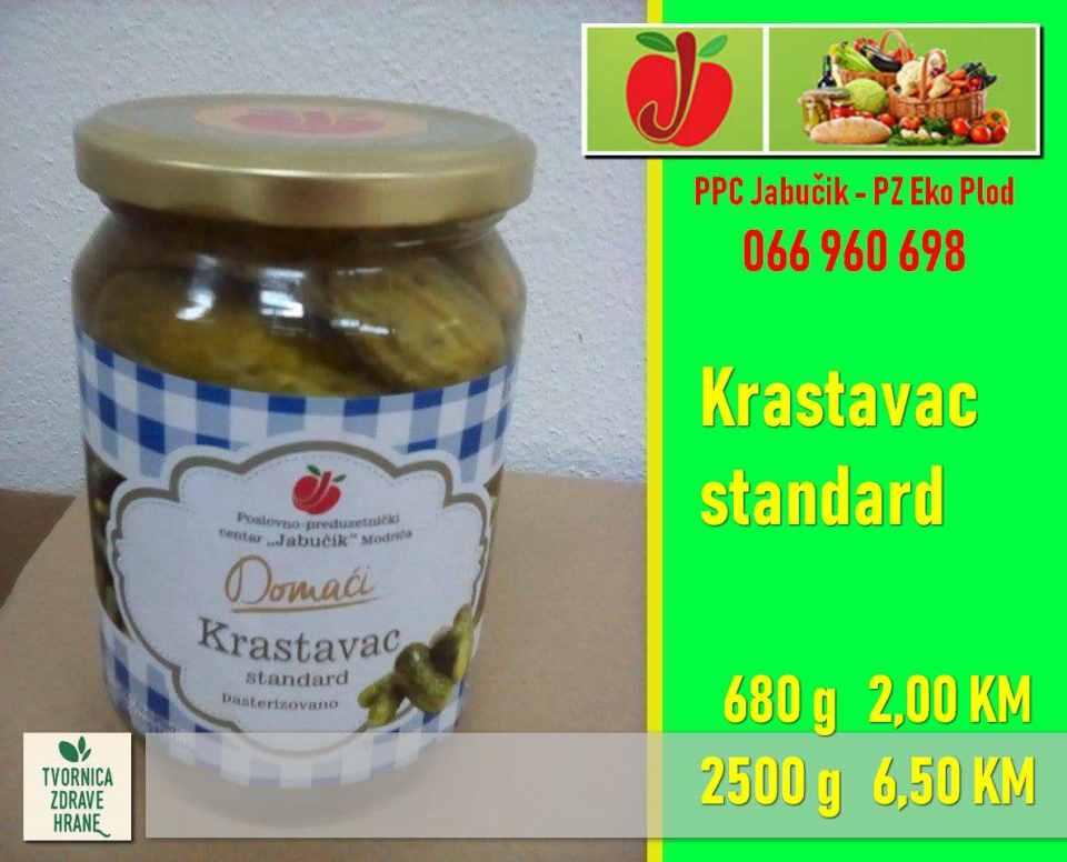 Krastavac standard 680 g 2,00 KM, 2500 g- 6,50 KM