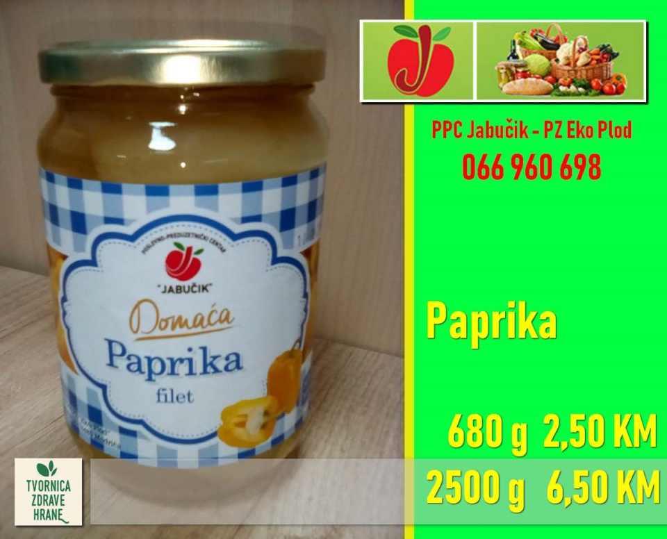 Paprika 680g-. 2,50, 2500g - 6,50KM